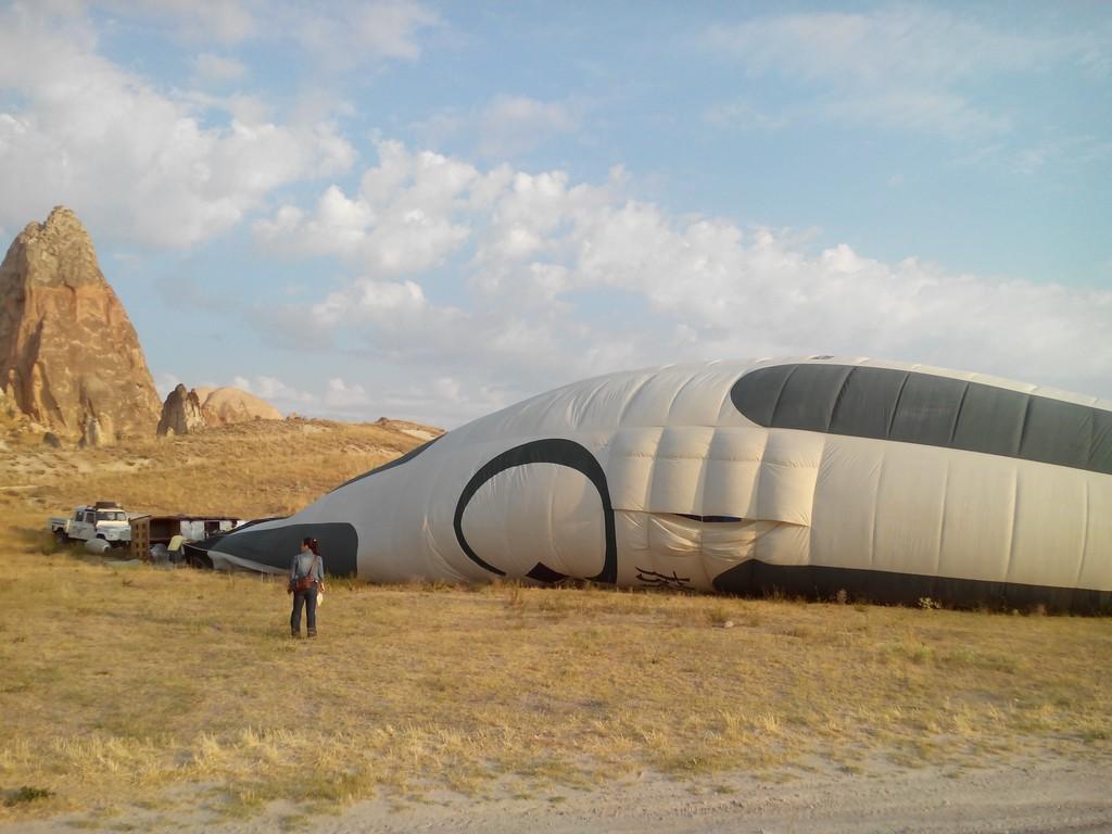 好大的熱氣球!